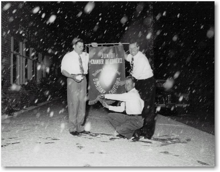 1949 And 1950 Snow In Burbank